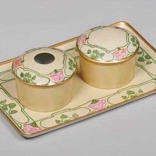 Annie Seay Hand-Decorated Porcelain Vanity Set 1913