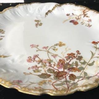 Pair - ANTIQUE M. REDON LIMOGES Handmade Plates