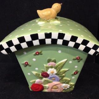 MARY ENGELBREIT INK Lidded Porcelain Box