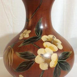 Floral Metal Vase