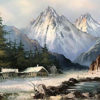 Signed Oil on Canvas, Winter Landscape