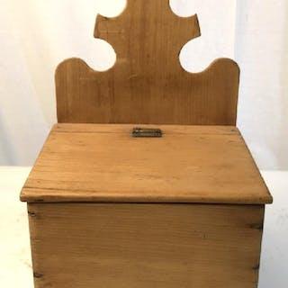 Antique Pine Salt Box, C 1870
