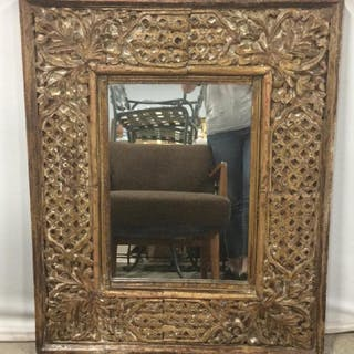 Mirror in Openwork Style Carved Frame