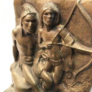 Bronze Native American Book End
