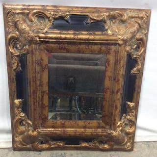 Beveled Mirror In 2-Tone Frame