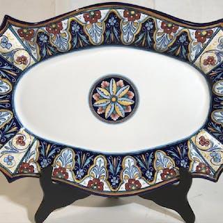 Handmade Italian Floral Ceramic Decor Plate