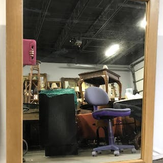 Oversized MCM Mantel Mirror in Wood Frame