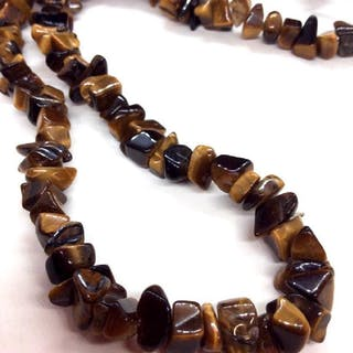 Tigers Eye Natural Stone Necklace