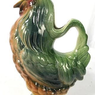 S CLEMENT FRANCE Ceramic Rooster Pitcher