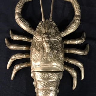 Brass Lobster Sculpture With Compartment