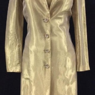 VERA WANG Vintage Gold Maxi Dress And Coat Set
