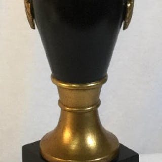 Black and Gold Urn Shaped Table Lamp