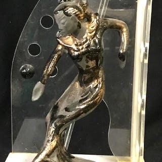 Mid Century Modern w/ Art Deco Figurine Lamp