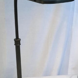 Grey Metal Bent Arm Desk Lamp