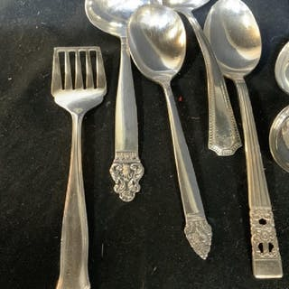 Assorted Silver Plate Serving Utensils