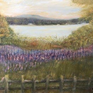 Signed Oil on Board, Lavender Field