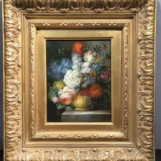 Signed Oil on Board, Floral Still Life