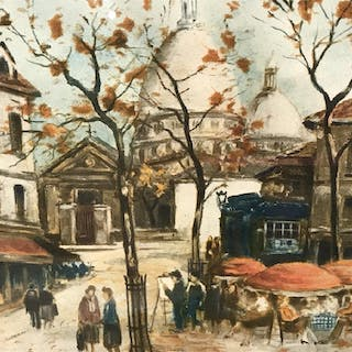 Signed & Numbered Engraving, Paris in Autumn
