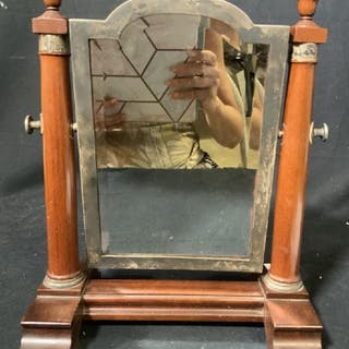Antique Table top Shaving Mirror, Mahogany