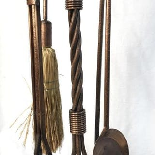 Lot 5 Fireplace Tools & Stand