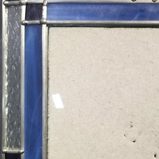 Arts & Crafts Style Stained Glass Picture Frame