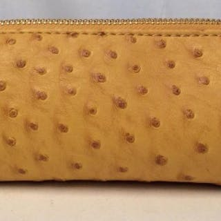 CO- LAB Ostrich Skin Style Material Makeup bag