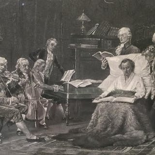 Framed Thomas W. Shields Lithograph