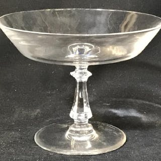 SIGNED VAL ST LAMBERT Crystal Pedestal Tazza