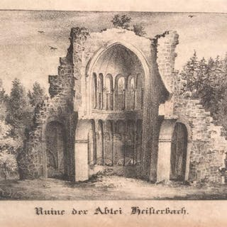 Pair Lithographs, Multiple Scenes in Germany