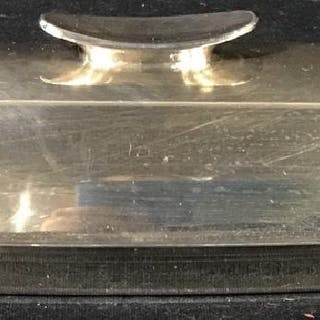 Mid Century Modern Silver Plated Butter Dish Tray