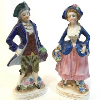 Lot 2 Hand Painted Porcelain Figures