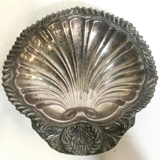 Footed AMSTON Fine Silver Plated Shell Bowl