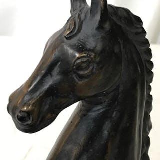 Dark Bronze Colored Horse Figural