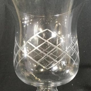 Cut Crystal/ Glass Candle Holder