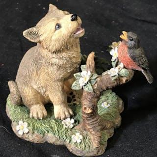 Lot 2 Vintage Animal Ceramic Figurals