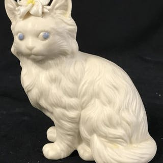 SIGNED Whimsical Cat Figural