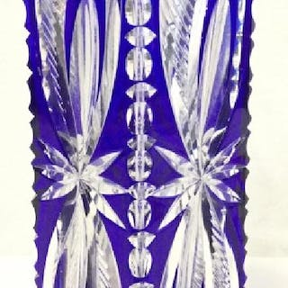 LAUSITZER GLAS Cut Crystal Art Glass Vase
