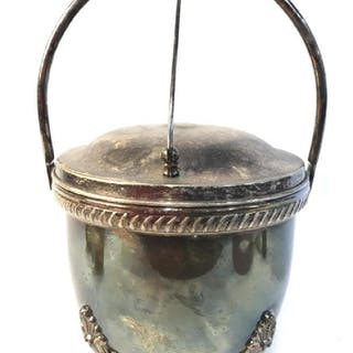 BRISTOL Silver Plated Lidded Footed Ice Bucket