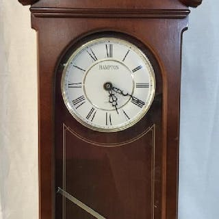 Carved Wooden HAMPTON Wall Clock