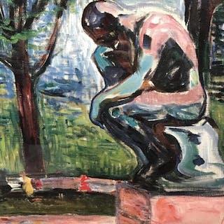 Framed Musée Rodin Exhibition Poster