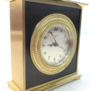Black & Gold Toned BULOVA DESK Clock
