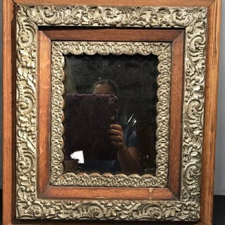Tinted Mirror in Wood Frame
