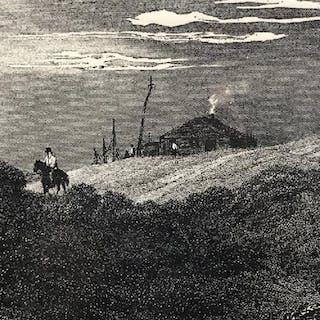 Signed & Numbered Engraving, Western Landscape