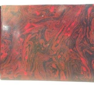 Swirled Lacquered Mahogany Keepsake Box