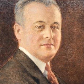 Framed Oil on Canvas, Man's Portrait