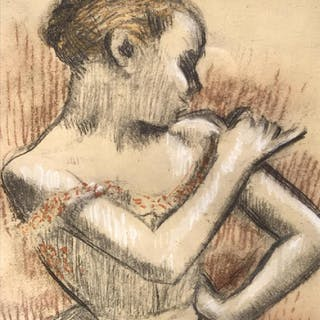 Edgar Degas Pochoir Silkscreen Print, The Dancer