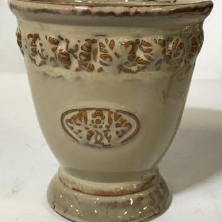 Mocha Glazed Cache Pot