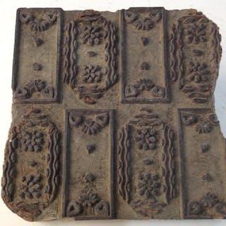 Vintage Wooden Printing Block