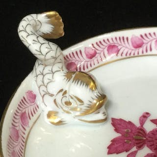 Set 3 HEREND Place Card holder Dishes