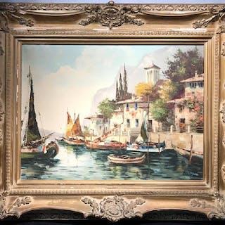 Signed L. BERTINI Oil on Canvas, c. 19th Century